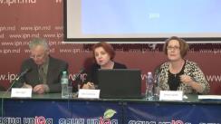 """Conferința de presă organizată de Transparency International - Moldova cu tema """"Lansarea rezultatelor cercetării sociologice """"Corupția în Republica Moldova: percepțiile și experiențele proprii ale oamenilor de afaceri și gospodăriilor casnice - 2015"""""""