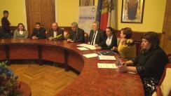"""Conferința de presă organizată de Primăria municipiului Chișinău privind implementarea proiectului """"Eficiența în sectorul public"""""""