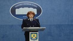 """Declarația de presă a purtătorului de cuvânt al Ministerului Afacerilor Interne, Monica Dajbog, privind rezultatele obținute în această săptămână de către structurile ministerului în aplicarea Planului de măsuri """"Sărbători de iarnă în siguranță"""""""