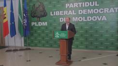 Declarații după ședința Consiliului Politic Național al PLDM din 13 decembrie 2015