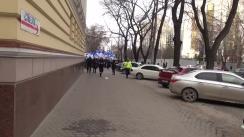 Acțiune de protest organizată de Partidul Nostru, condus de Renato Usatîi, în fața Reședinței Președintelui Timofti de pe strada Nicolae Iorga