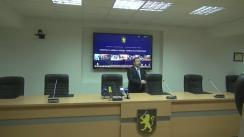 Briefing organizat de Inspectoratul General al Poliției de prezentare a noi detalii în cazul reținerii grupării paramilitare din nordul țării la 25 noiembrie