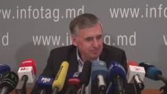Conferință de presă susținută de fostul prim-ministru și actualul om de afaceri, Ion Sturza