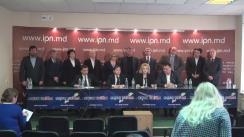 Briefing de presă susținut de un grup de deputați din Parlamentul Republicii Moldova