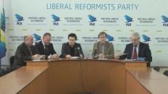 """Conferință de presă organizată de PLR, PAD, PNL și PPRM cu tema """"Regulamentul privind finanțarea activității partidelor politice promovat de CEC pentru lichidarea partidelor extraparlamentare, ca alternativă politică"""""""