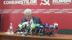 Conferință de presă susținută de președintele PCRM, Vladimir Voronin