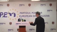 Declarațiile lui Iurie Leancă după consultările prim-ministrului desemnat Ion Sturza cu Partidul Popular European din Moldova