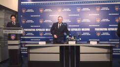 Conferință de presă organizată de Procuratura Generală privind reținerea unei grupări criminale și a unei cantități importante de substanțe interzise, introduse prin contrabandă