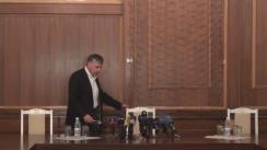 Briefing susținut de prim-ministrul desemnat, Ion Sturza, de prezentarea agendei de consultări publice privind formarea programului Guvernului și rezultatele consultărilor anterioare