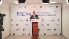 Declarațiile prim-ministrului desemnat Ion Sturza după consultările cu Partidul Popular European din Moldova