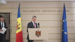 Briefing de presă pe tema constituirii platformei parlamentare - Platforma Social-Democrată pentru Moldova