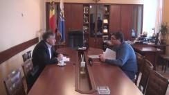 Întâlnirea prim-ministrului desemnat, Ion Sturza, cu primarul municipiului Bălți, Renato Usatîi