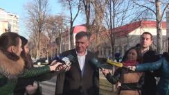 Declarații după întrevederea prim-ministrului desemnat Ion Sturza cu președintele Parlamentului, Andrian Candu