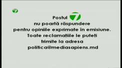 "Emisiunea ""Politica"" cu Natalia Morari. Invitat: Ion Sturza"