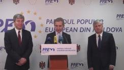 Declarații după ședința lărgită a consiliului politic PPEM privind votul acordat Guvernului condus de Ion Sturza