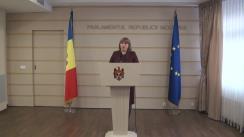 Declarațiile Lilianei Palihovici după ședința Parlamentului din 4 ianuarie 2016