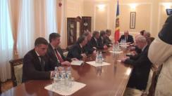 Declarațiile grupului de deputați neafiliați condus de Iurie Leancă după consultările cu președintele Republicii Moldova, Nicolae Timofti, în vederea desemnării unui nou candidat la funcția de prim-ministru
