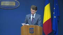 Declarația purtătorului de cuvânt al Guvernului, Dan Suciu, după ședința Guvernului României din 6 ianuarie 2016