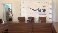 Conferință de presă susținută de către copreședinții ALDE, Călin Popescu-Tăriceanu și Daniel Constantin