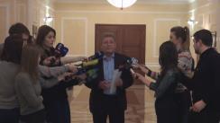 Declarațiile lui Mihai Ghimpu după consultările președintelui Nicolae Timofti cu fracțiunile PLDM, PL, PD și cele două grupuri parlamentare de deputați neafiliați (PPEM și Platforma Social-Democrată), în vederea desemnării unui candidat la funcția de prim-ministru