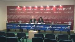 """Conferința de presă cu tema """"Consolidarea sistemului parlamentar în Moldova nu are alternativă. Performanța democratică, stabilitatea constituțională, creșterea economică contrariate de (semi)prezidentialism"""""""