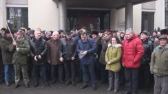 """Conferință de presă susținută de protestatarii Platformei Civice """"Demnitate și Adevăr"""" de încurajare a președintelui Nicolae Timofti"""