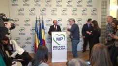 Briefing susținut de președintele Mișcării Populare, Traian Băsescu, după Consiliul Executiv Național al partidului