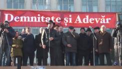 """Acțiune de protest organizată de Platforma Civică """"Demnitate și Adevăr"""""""