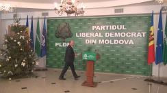 Declarații după ședința fracțiunii PLDM privind decizia de a susține prim-ministrul desemnat de PD