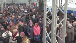 Acțiune de protest organizată de Renato Usatîi și Partidul Nostru față de înaintarea repetată a lui Plahotniuc în funcția de prim-ministru