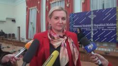 Declarațiile Ruxandei Glavan după înmânarea diplomelor de onoare personalului medical implicat în salvarea răniților din incendiul petrecut într-un local din Piața Centrală