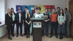 Conferință de presă organizată de grupul de inițiativă al partidului unionist Dreapta și reprezentanții Blocului Unității Naționale
