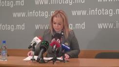 """Conferință de presă susținută de avocata Ana Ursachi cu tema """"Cum va reacționa sistemul judecătoresc, creat de Vlad Plahotniuc, la garanțiile a patru deputați europeni în cazul Grigore Petrenco"""""""