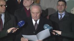 Anunțarea noului candidat la funcția de prim-ministru de către președintele Nicolae Timofti