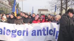 """Acțiune de protest organizată de Partidul Nostru cu genericul """"Vrem alegeri parlamentare anticipate!"""""""