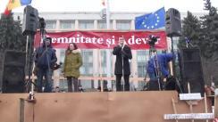 Acțiune de protest în Piața Marii Adunări Naționale