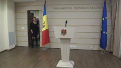 Declarațiile Violetei Ivanov după consultările prim-ministrului desemnat, Pavel Filip, cu deputații din Platforma Social-Democrată pentru Moldova