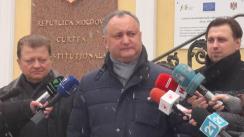 Contestarea la Curtea Constituțională a legitimității decretului președintelui Nicolae Timofti de desemnare a domnului Pavel Filip la funcția de prim-ministru