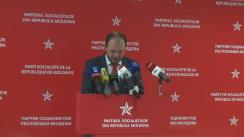 """Conferință de presă organizată de Partidul Socialiștilor din Republica Moldova cu tema """"PSRM inițiază demisia lui Chirtoacă"""""""