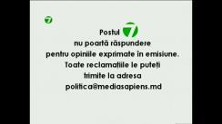 """Emisiunea """"Politica"""" cu Natalia Morari. Invitat: James Pettit, Ambasadorul SUA în Republica Moldova"""