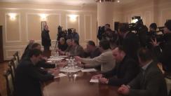 Dialog între președintele Parlamentului, Andrian Candu, cu liderii protestatarilor