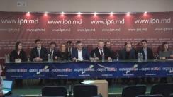 """Conferință de presă cu tema """"O alternativă politică viabilă pentru Republica Moldova"""""""