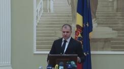 Briefing susținut de ministrul Justiției, Vladimir Cebotari
