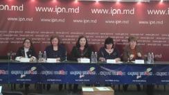 """Conferința de presă organizată de AO Onoarea și Dreptul Femeii Contemporane cu tema """"Implicarea activă a femeilor în viața publică și politică - remediu pentru dezvoltarea democrației în Republica Moldova"""""""