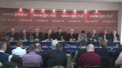 """Conferință de presă organizată de Consiliul Marii Adunări Naționale cu tema """"Cu privire la persecutarea protestatarilor pașnici de către instituțiile de drept, subordonate oligarhiei criminale"""""""