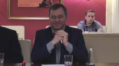 """Exclusiv. Clubul de presă """"Rezonanța Socială"""". Invitat: Andrei Popov, ambasadorul Republicii Moldova în Austria și OSCE: """"Eu sunt moldovean. Îi respect pe Vlad Plahotniuc și Mark Tkaciuk. Nu am de gând să părăsesc Partidul Democrat. Îmi place muzica sovietică despre război, muzica românească, hocheiul și... nu numai"""""""