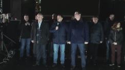 Conferință de presă susținută de președintele Partidului Nostru, Renato Usatîi, președintele PSRM, Igor Dodon, și liderul Platformei Demnitate și Adevăr, Andrei Năstase