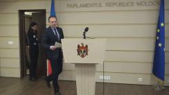 Briefing susținut de președintele Parlamentului Republicii Moldova, Andrian Candu