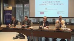 """Conferință de presă cu ocazia lansării proiectului Uniunii Europene """"Suport pentru Consiliul Concurenței"""""""