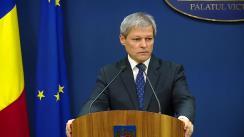 Conferință de presă susținută de prim-ministrul României, Dacian Cioloș, privind alegerea primarilor în două tururi